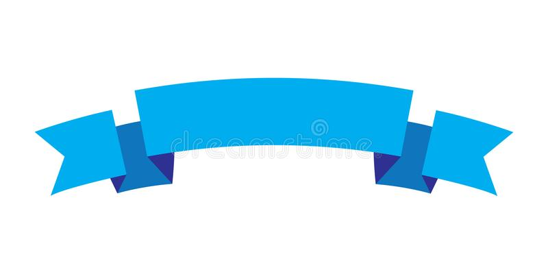 Tasiemkowego projekta błękitny kolor, Tasiemkowa ikona ilustracja wektor