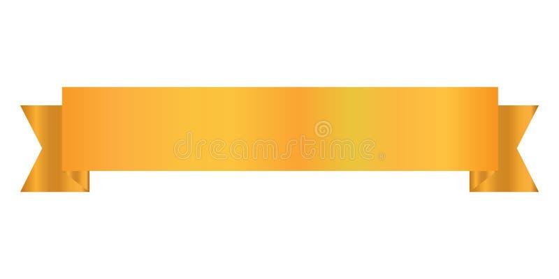 Tasiemkowego projekta złocisty kolor, Tasiemkowa ikona ilustracja wektor