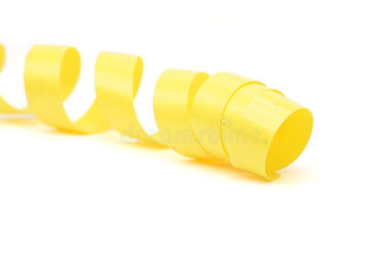 tasiemkowy żółty obraz stock