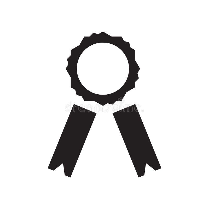 Tasiemkowy ikona wektor odizolowywający na białym tle, faborku znak, medyczni zdrowie symbole ilustracji