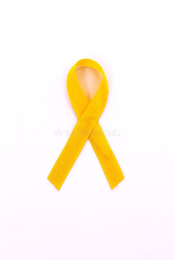 tasiemkowy kolor żółty fotografia stock