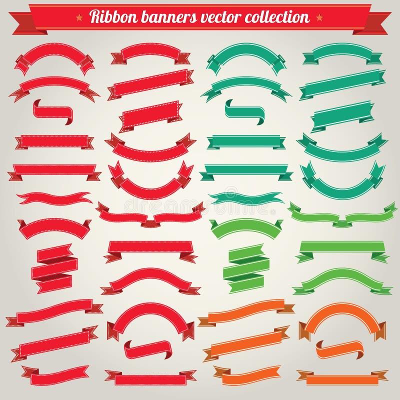 Tasiemkowa sztandaru wektoru kolekcja royalty ilustracja