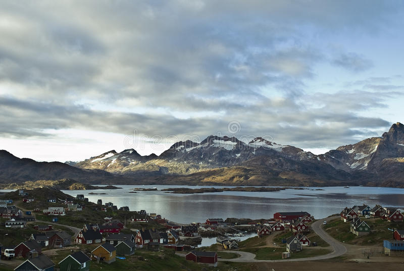 Tasiilaq, Groenland stock foto