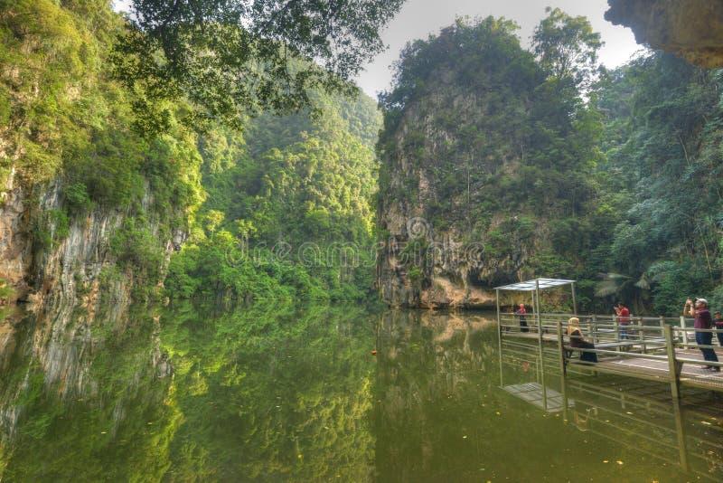 Tasik Cermin o lago mirror fotografia stock libera da diritti