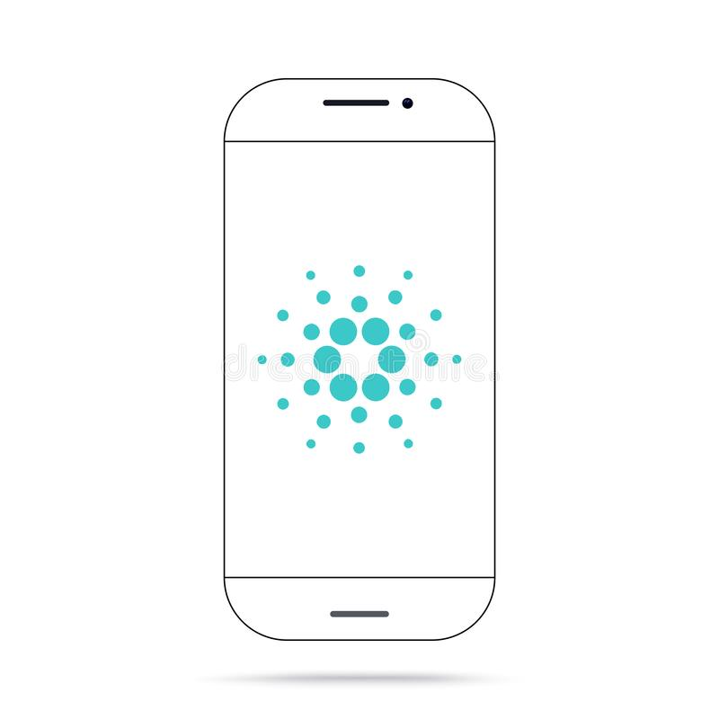 Cardano ADA cryptocurrency icon vector iphone stock illustration