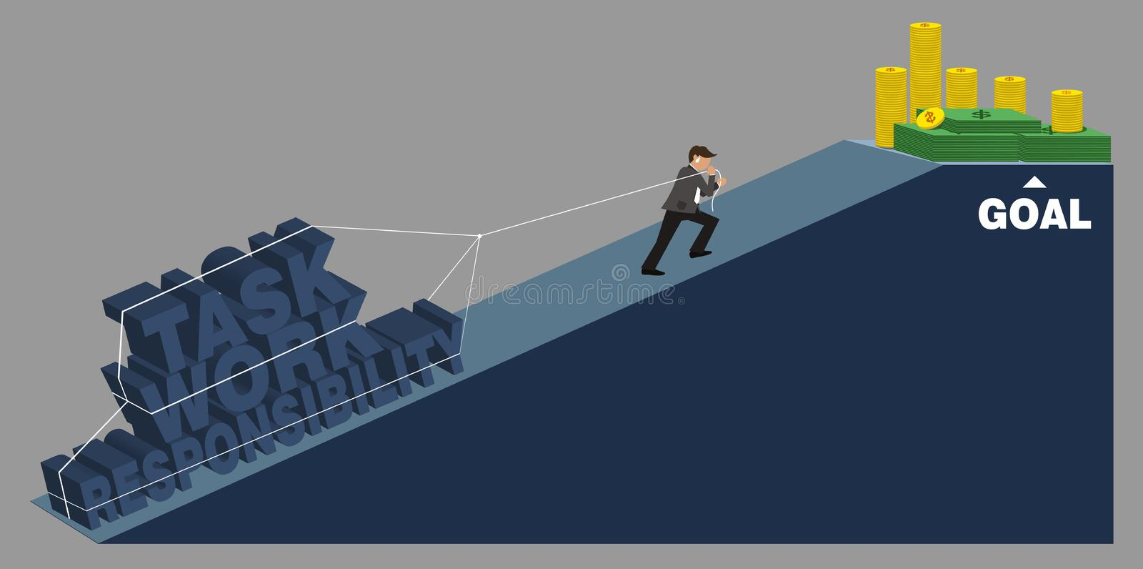 Task busy and tired. People with task busy and tired vector illustration