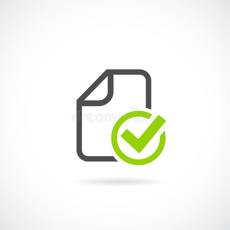 Task completed vector icon royalty free illustration