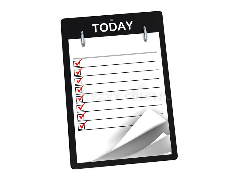Download Task list stock illustration. Image of number, curl, diary - 9896559