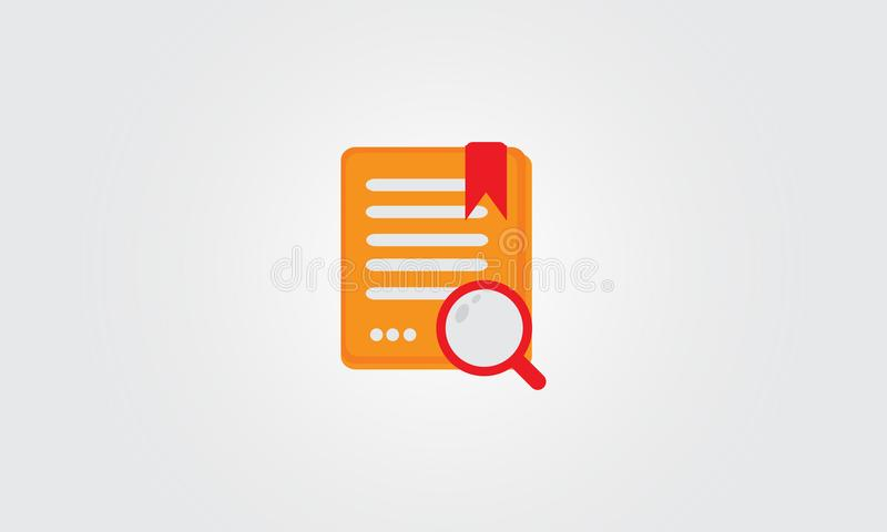 Search task paper vector icon royalty free stock images