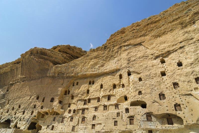 Taskale historische graanschuuren Karaman/Turkije stock foto's