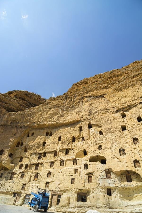 Taskale historische graanschuuren Karaman/Turkije stock foto