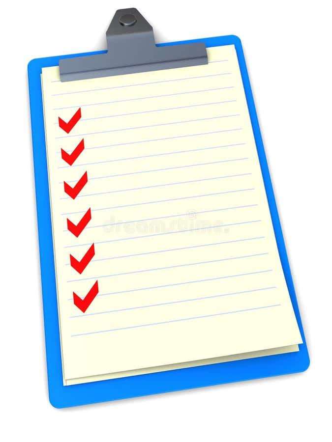 Tasklist Klemmbrett vektor abbildung