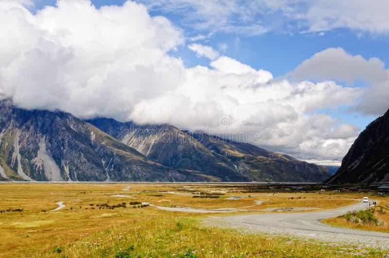 Tasman dalväg - Mt-kock royaltyfria foton