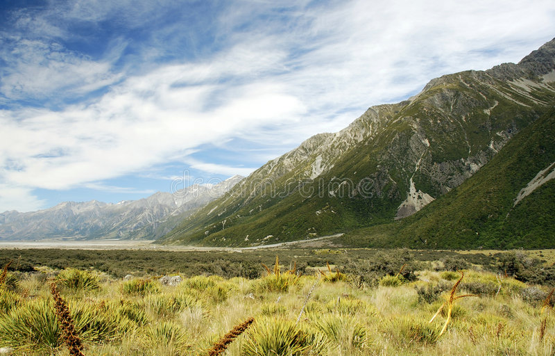 Tasman Glacier Valley stock images