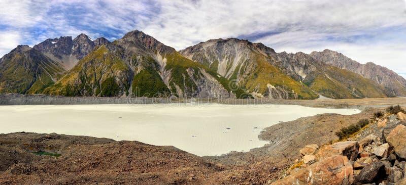 Tasman Glazial- See, Mt Koch, NP, Neuseeland lizenzfreie stockbilder