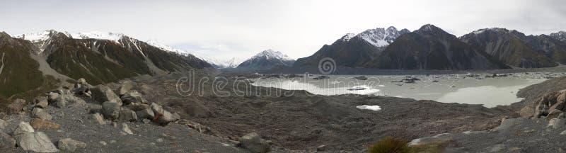 Tasman Gletscher stockbild