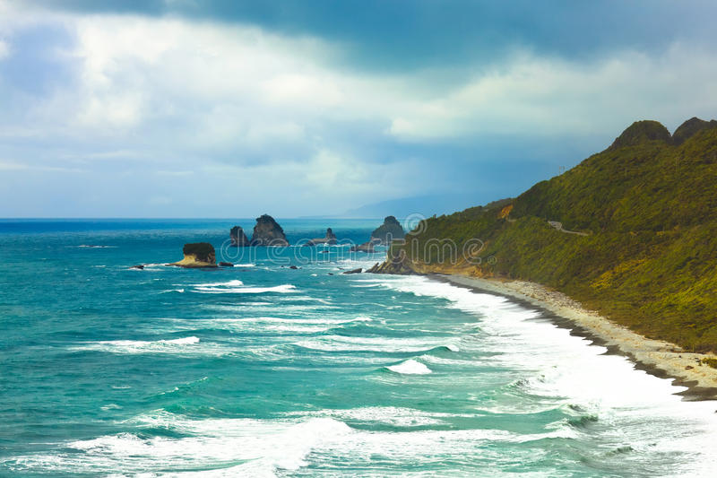 Tasman sea. Coastline of The Tasman sea royalty free stock photos