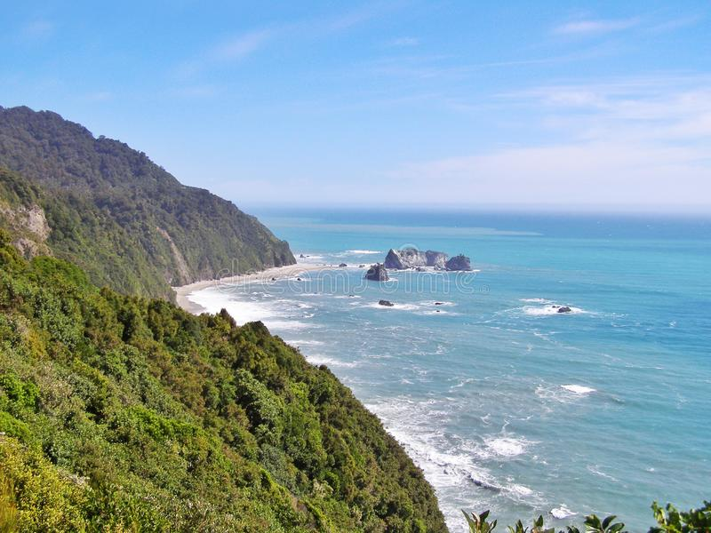 Knights Point Lookout, South Island  New Zealand stock image