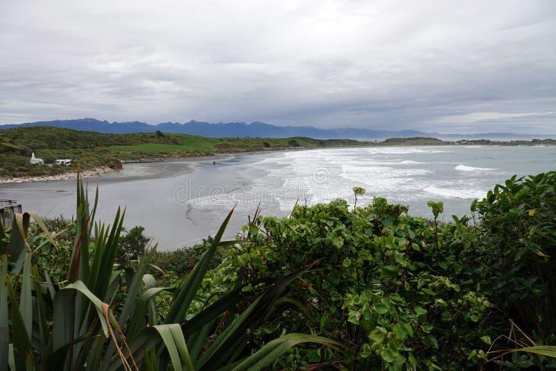 Cape Foulwind and Tasman Sea on West Coast of New Zealand. Tasman Sea at Cape Foulwind on the West Coast of the South Island of New Zealand stock images