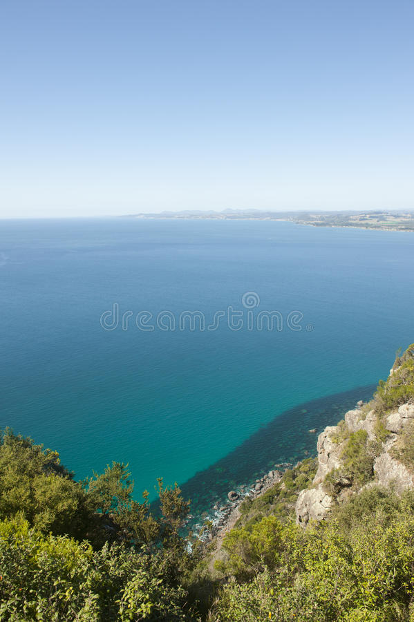 Tasmania brzegowego secenic punktu obserwacyjnego Basowa cieśnina Burnie fotografia stock