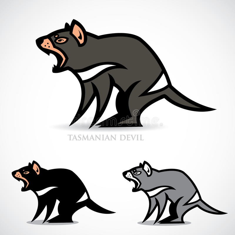 Tasmanian дьявол иллюстрация штока