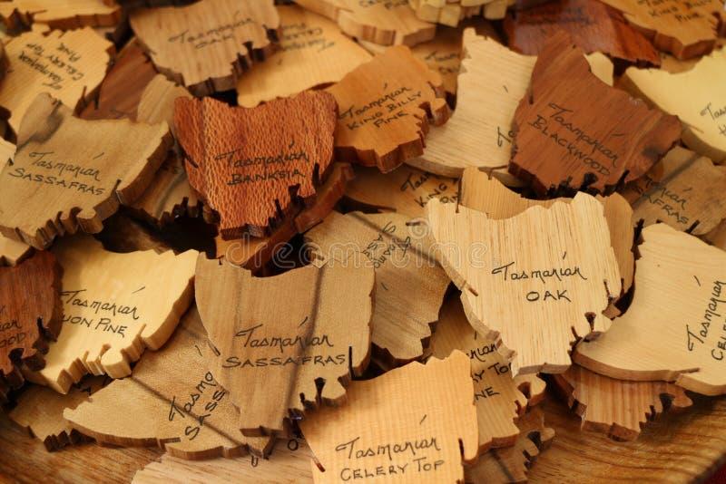 Tasmanian Wood Art stock photos