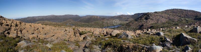 Tasmanien-Berg-Feld-Nationalpark stockfotografie