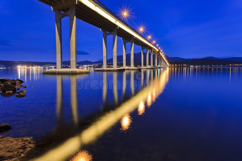 Tasmanien-Brücken-Abschluss-Seiten-Aufstieg lizenzfreies stockbild