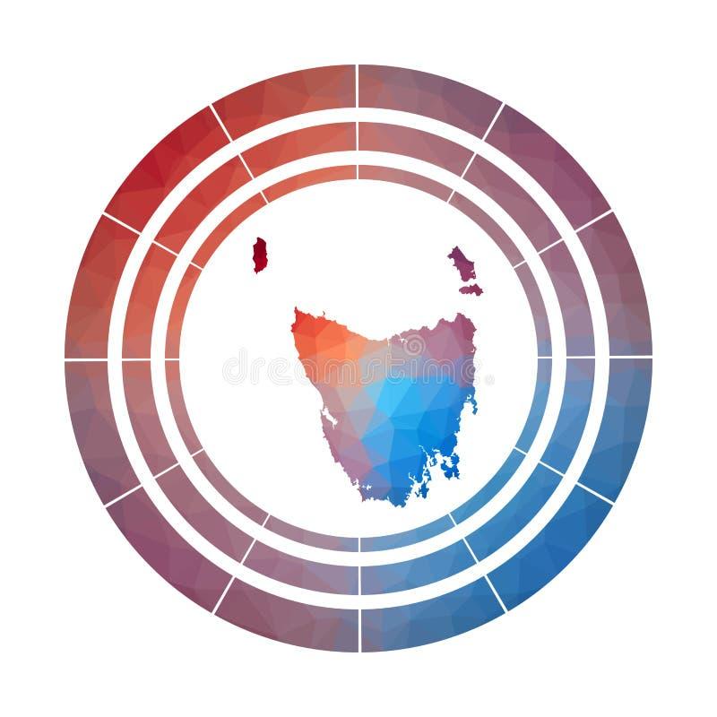 Tasmanien emblem vektor illustrationer