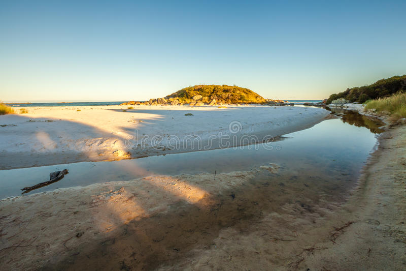 Tasmanien-Ostküste stockfoto
