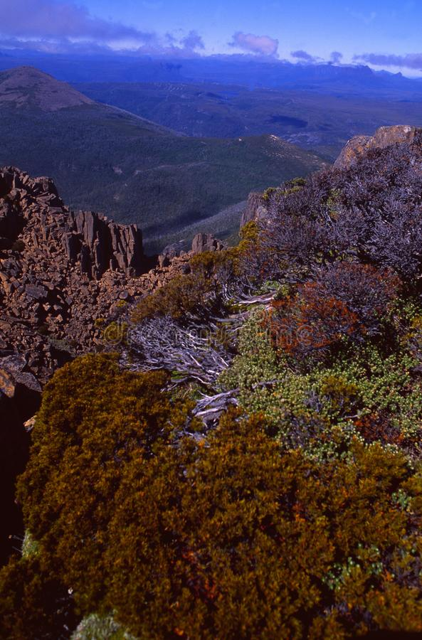 Tasmanige: Weergeven van Onderstel Wellington dichtbij Hobart City royalty-vrije stock afbeelding
