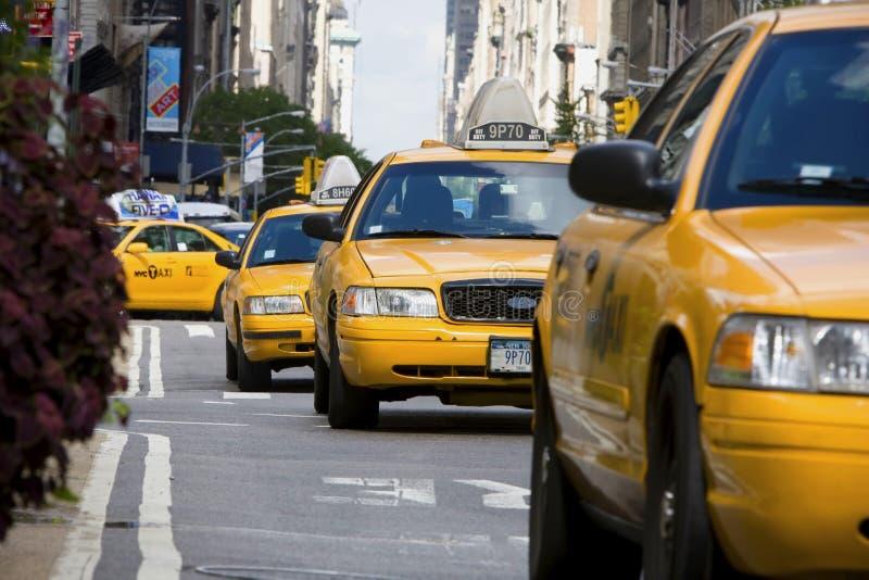 Tassì a Manhattan fotografia stock libera da diritti