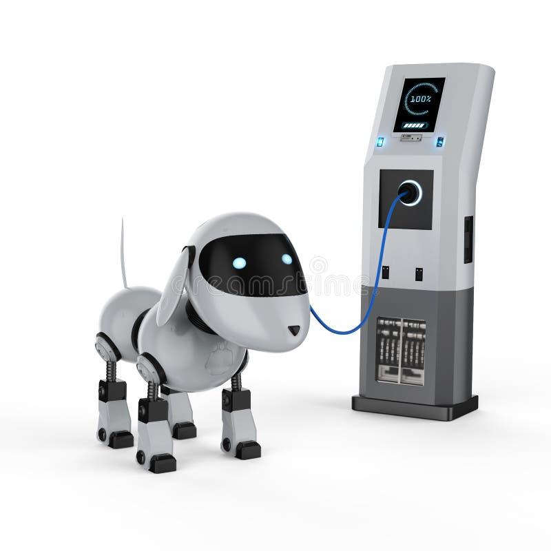 Tassa del robot del cane illustrazione di stock