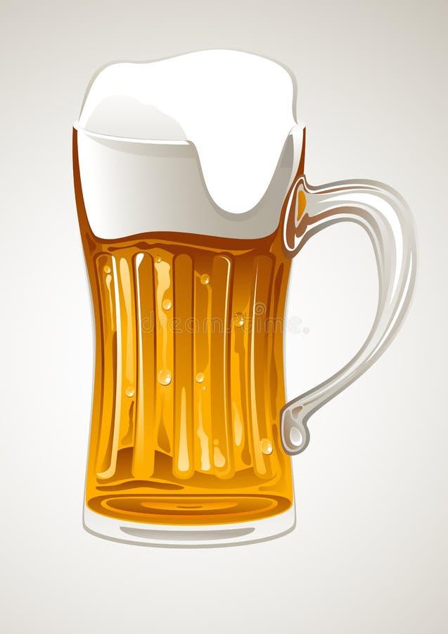 Tasse avec de la bière d'or illustration de vecteur