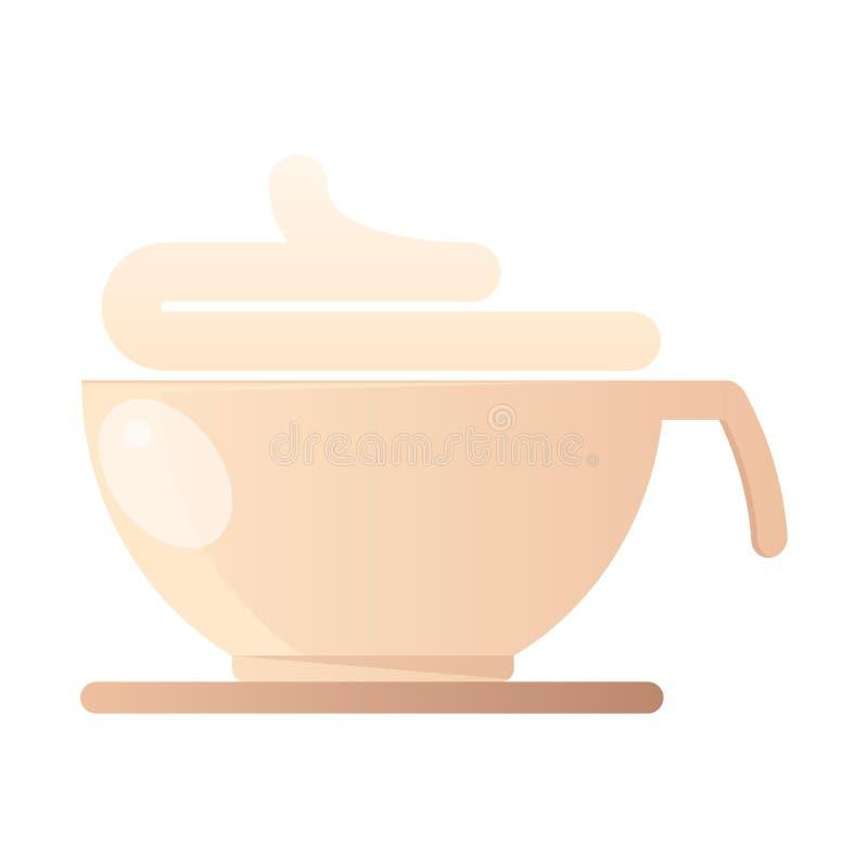 Tasse avec le cappuccino illustration de vecteur