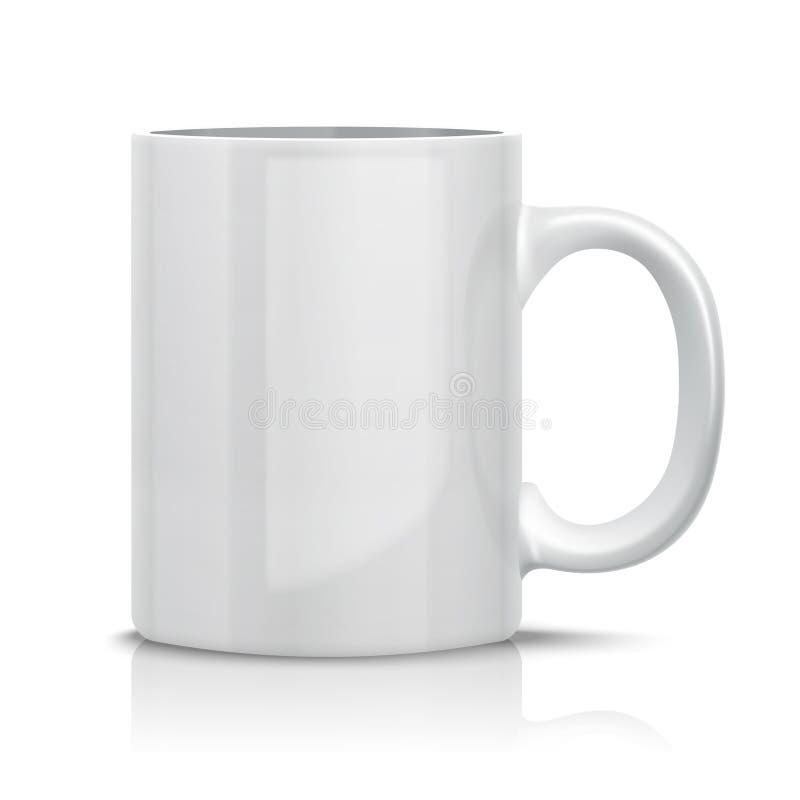 Tasse blanche classique illustration de vecteur