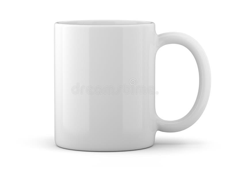 Tasse blanche d'isolement photo stock