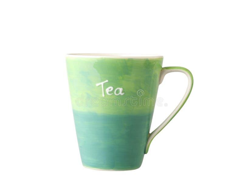 Tasse colorée de thé de porcelaine images libres de droits