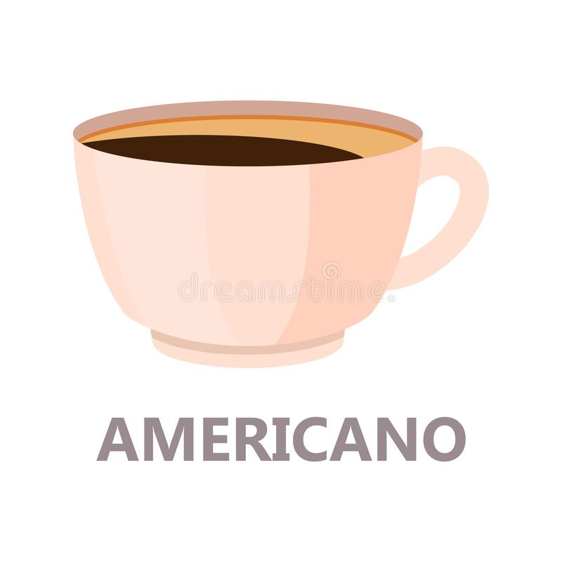 Tasse d'Americano du café Boisson de Brown illustration stock