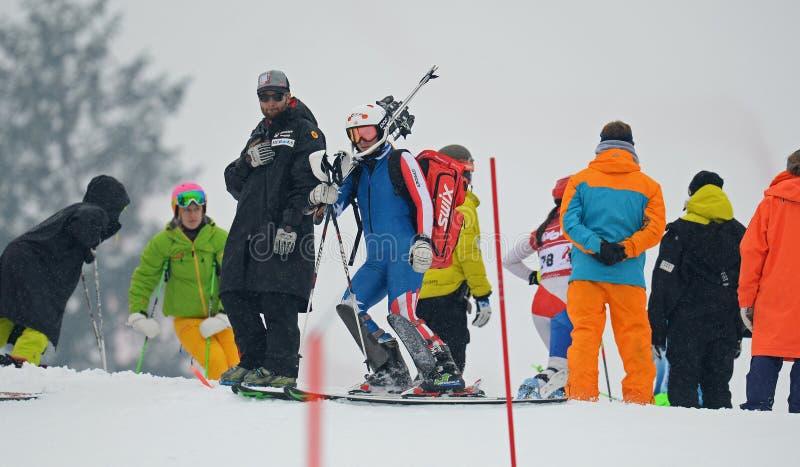 Tasse d'Europa de FIS - le slalom des femmes image stock
