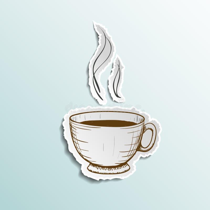 Tasse d'icône de café illustration de vecteur