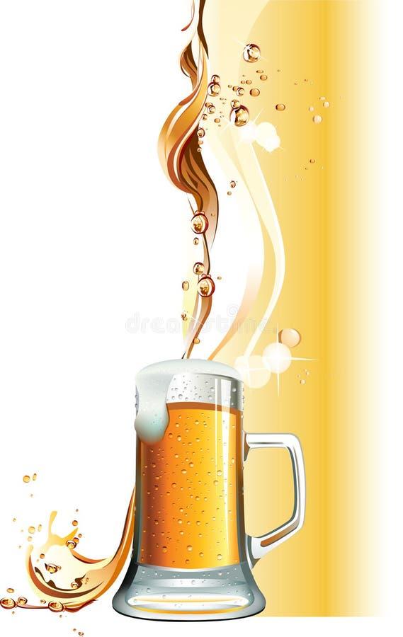 Tasse de bière illustration de vecteur