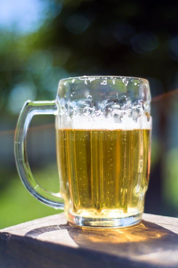 Tasse de bière fraîche photographie stock