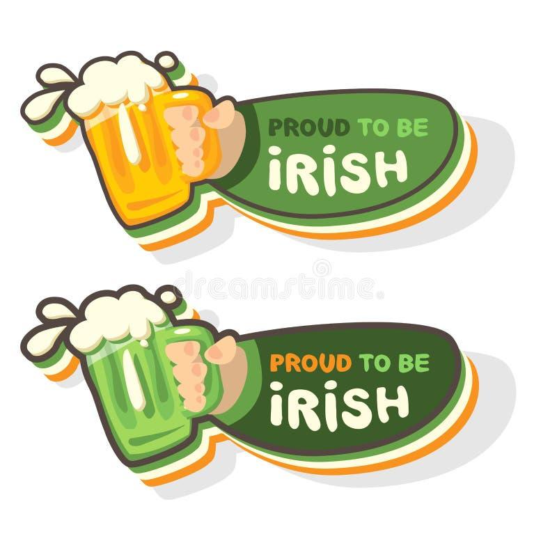 Tasse de bière irlandaise illustration libre de droits