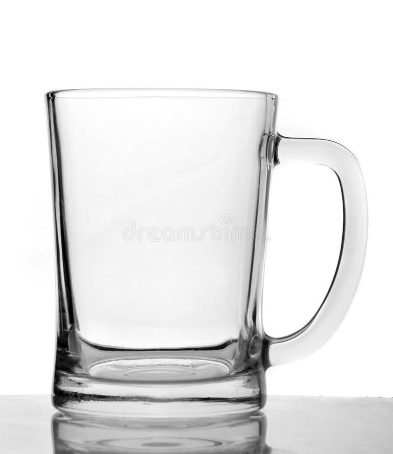 Tasse de bière vide photographie stock libre de droits
