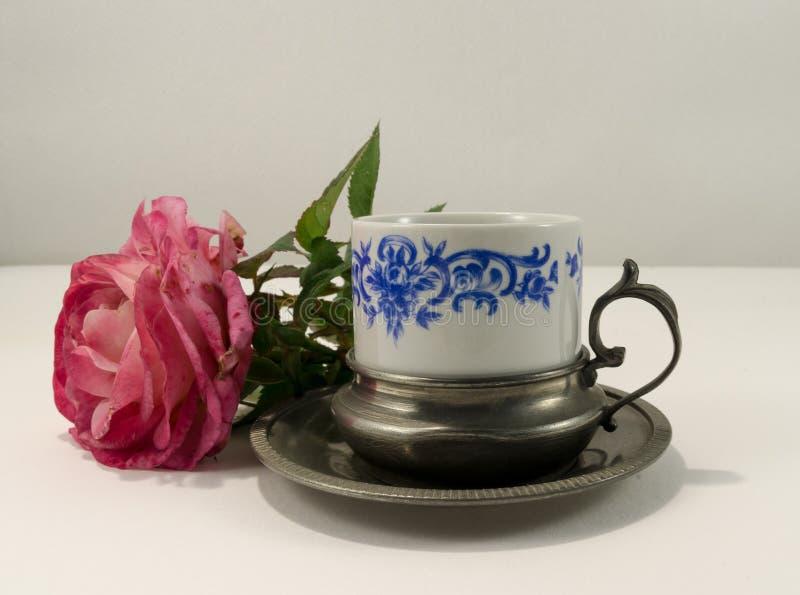 Tasse de café antique photos stock