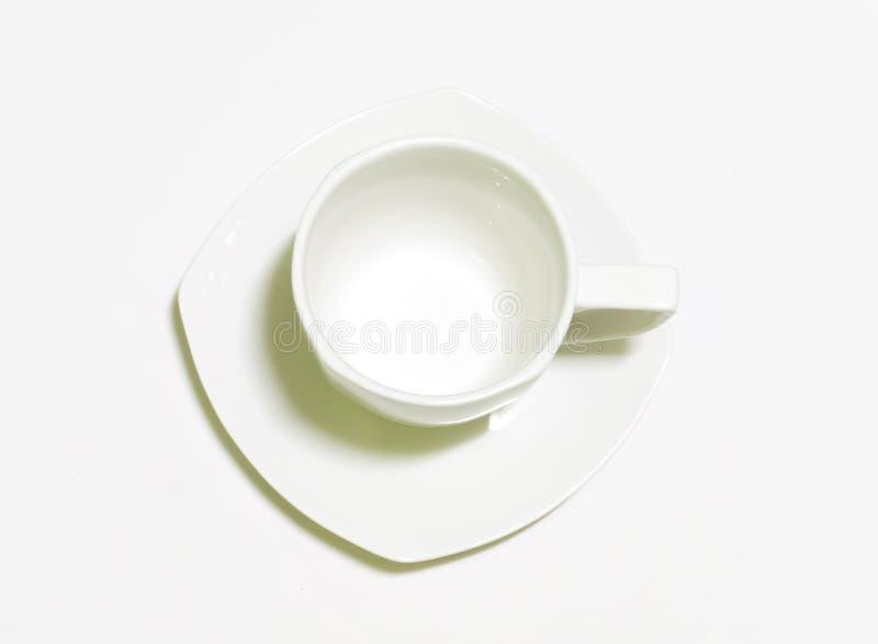Tasse de café blanc sur le fond blanc photos libres de droits