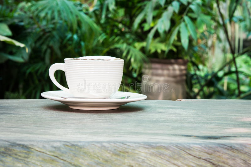 Tasse de café blanche photo stock