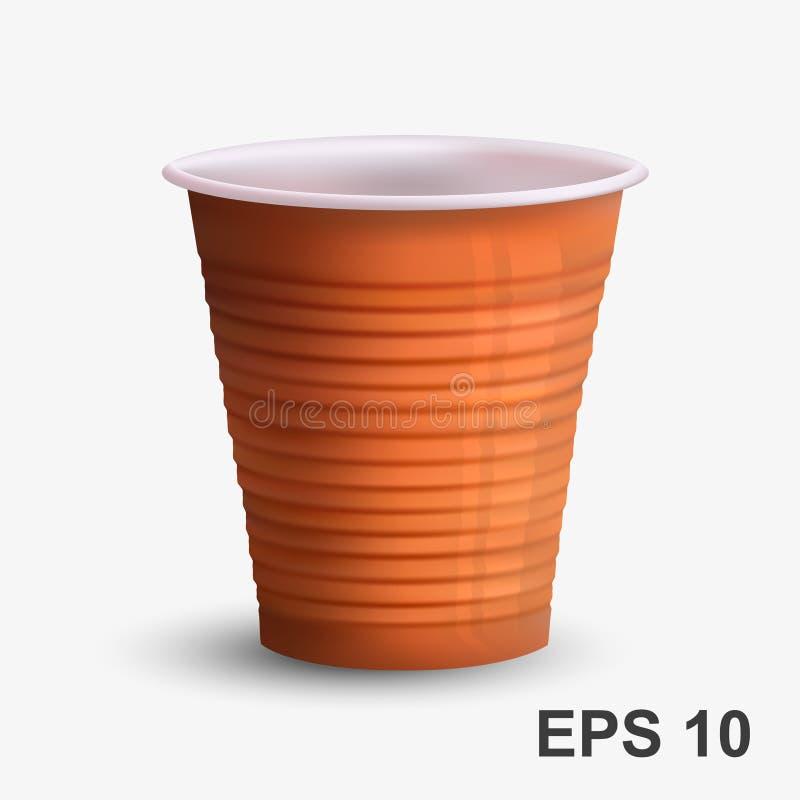 Download Tasse De Café Brune En Plastique Illustration de Vecteur - Illustration du réutilisez, remplaçable: 77160550