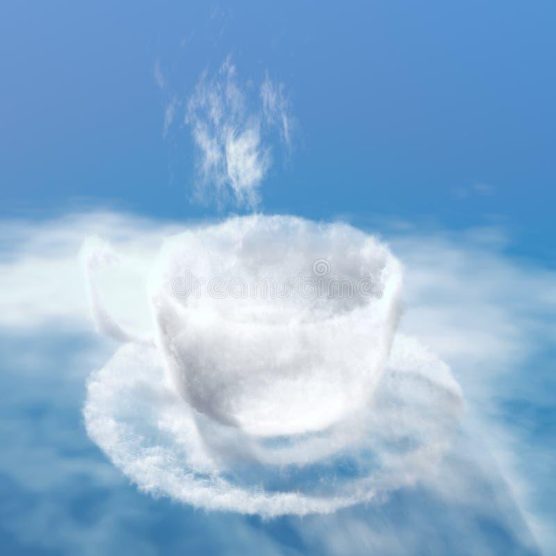 Tasse de café de nuage illustration libre de droits